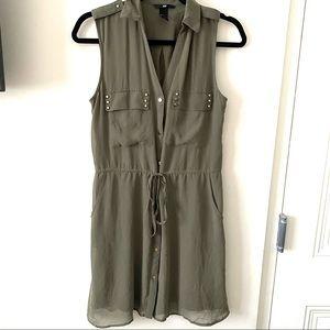 H&M Military Style Dress